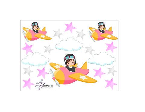 Stickerbogen Flieger 2