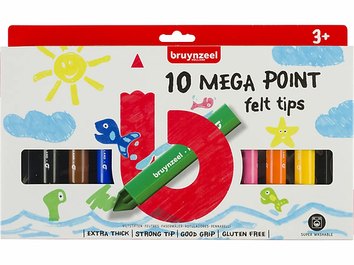 BRUYNZEEL Fasermalerset Kids Mega Point