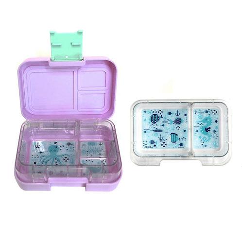 Munchi Snack lavendel, Znünibox violett, Lunchbox violett, Znünibox Mädchen, Lunchbox Mädchen, Znünibox personalisiert