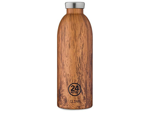 24Bottles Thermosflasche Clima 850ml Wood