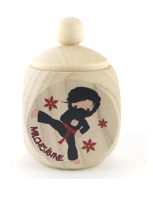 Milchzahndose Ninja,rot, Milchzahndose kaufen, Milchzahndose personalisiert, Milchzahndose