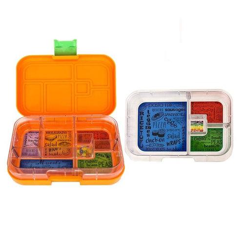 Munchbox Set Orange mit 4 & 6 Unterteilungen