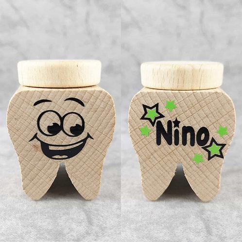 Milchzahndose Zahn, Milchzahndose kaufen, Milchzahndose personalisiert, Milchzahndose Holz