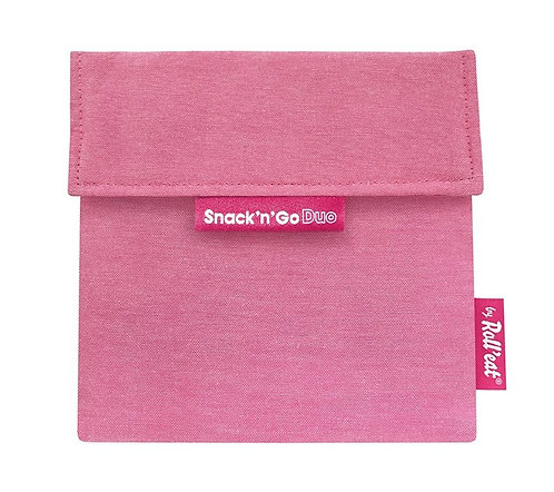 Roll'eat - Snack'n' Go DUO Lunchbag Pink