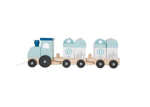 JABADABADO Eisenbahn mit Bausteinen Blau