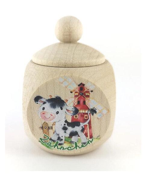 Milchzahndose Kuh, Milchzahndose kaufen, Milchzahndose personalisiert, Milchzahndose