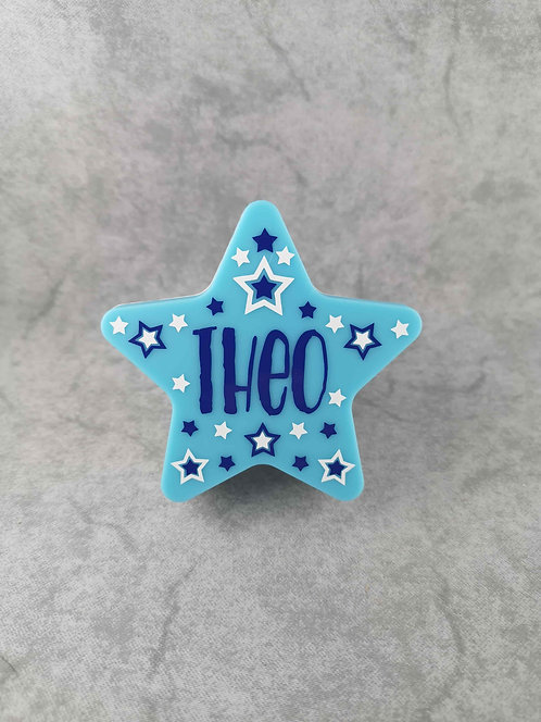 Steckdosen Nachtlicht Stern LED Blau