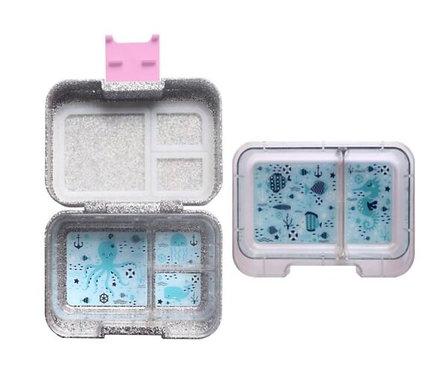 Munchbox, Munchi Snack, Glitzer, rosa, Mädchen, Znünibox, Lunchbox, personalisiert, beschriftet, Kinder, Kindergarten, pink