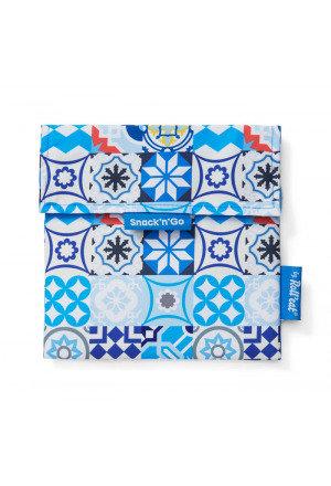 Roll'eat Snack'n' Go Lunchbag Patchwork Blau