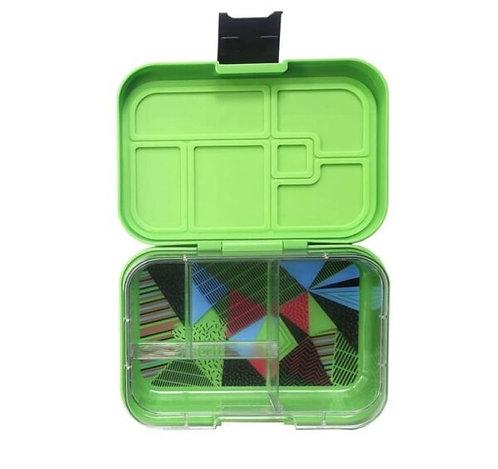 Munchbox mit 4 Unterteilungen Neon Grün