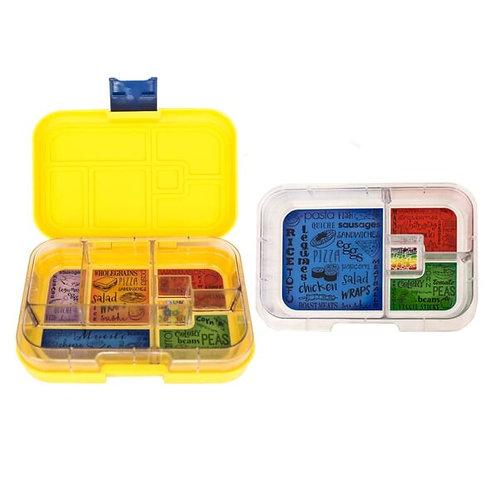 Munchbox Set Gelb mit 4 & 6 Unterteilungen