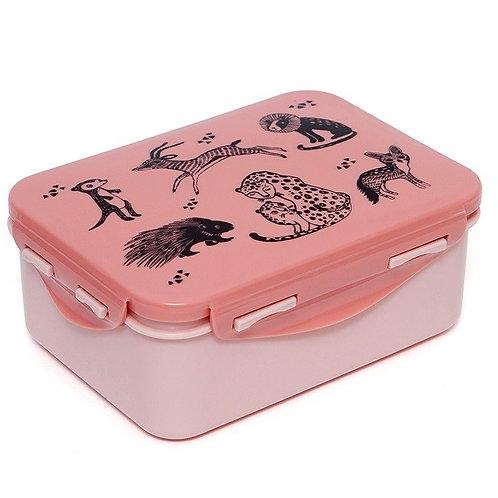 Petit Monkey Lunchbox Zoo Rosa