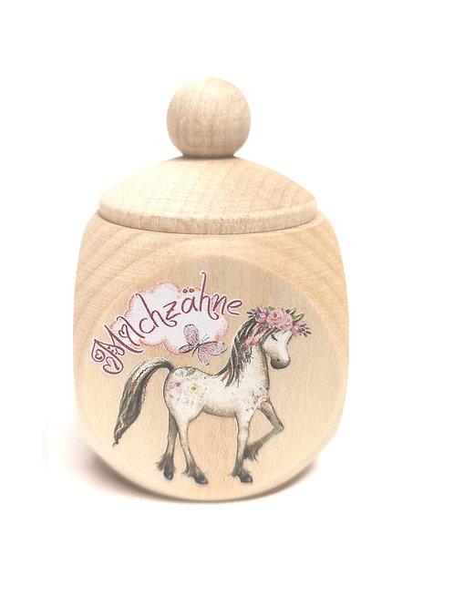 Milchzahndose Pferd,Pony, rosa,Mädchen, pink, Milchzahndose kaufen, Milchzahndose personalisiert, Milchzahndose