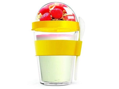 Asobu Yoghurt-/Müslibecher 360ml Gelb