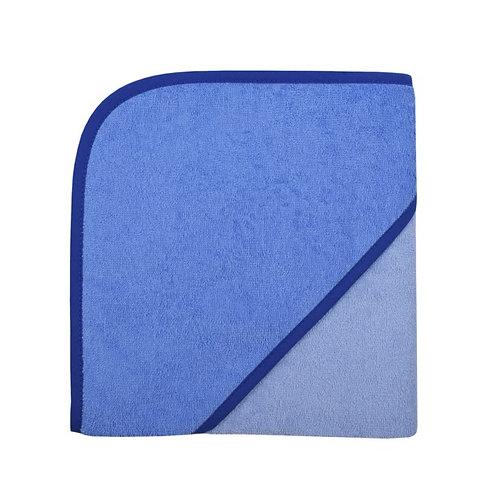 Kapuzen Badetuch Blau