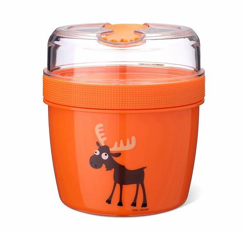 Carl Oscar Becher mit Kühlakku und Besteck Orange