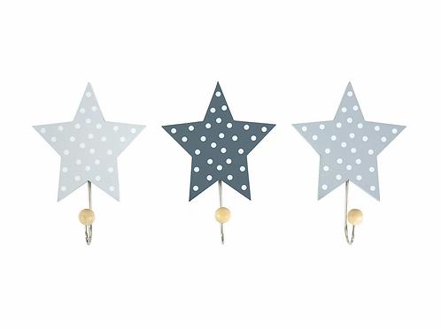 JABADABADO Wandhaken Sterne Grau