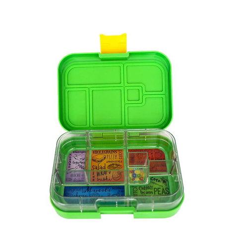 Munchbox mit 6 Unterteilungen Grün