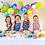Thumbnail: Kinder Koch-/Bastelschürze von Little Lunch Box - Regenbogen