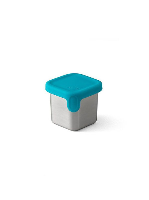 PlanetBox Shuttle/ Launch Little Square Dipper mit Silikondeckel Teal