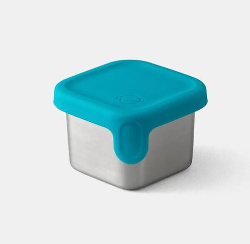PlanetBox Rover Little Square Dipper mit Silikondeckel Teal