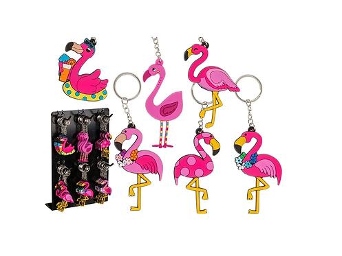 Schlüsselanhänger Flamingo assortiert