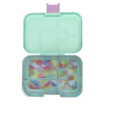 Munchbox mit 5 Unterteilungen Pastell Mint