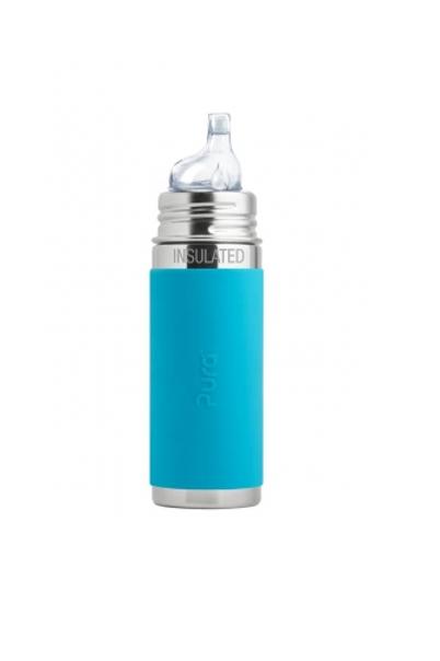 Pura Trinklern Isolierflasche 260ml Blau