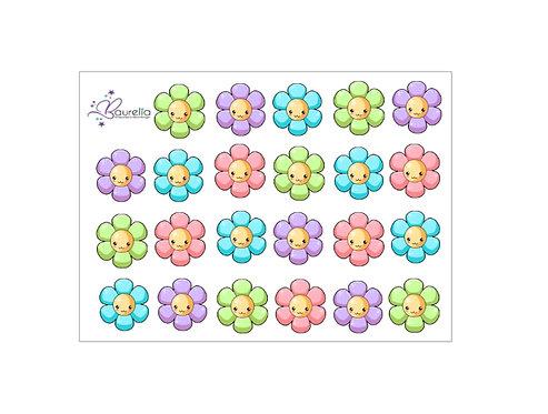 Stickerbogen Blume 4