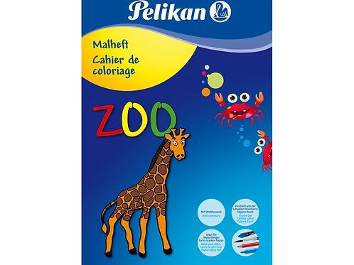 Malbuch Pelikan Zoo
