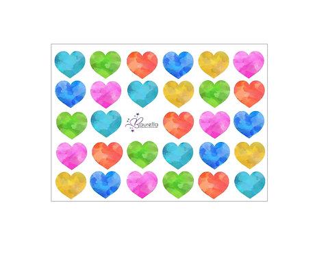 Stickerbogen Herz 5