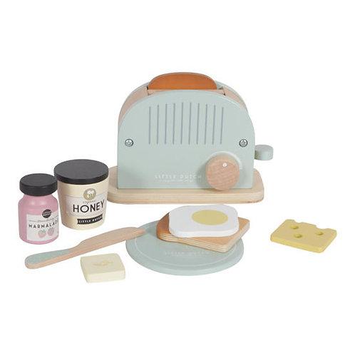 Little Dutch Holz Toaster Set 10-teilig