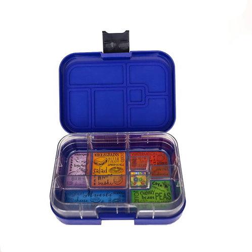 Munchbox mit 6 Unterteilungen Dunkelblau