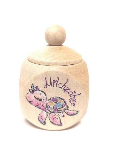 Milchzahndose Schildkröte, Mädchen, pink, Milchzahndose kaufen, Milchzahndose personalisiert, Milchzahndose Holz