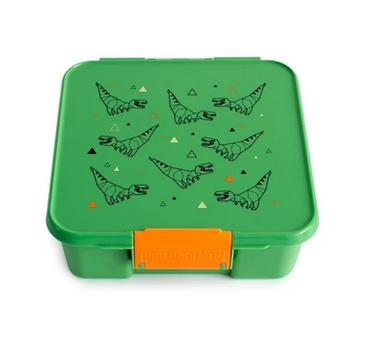 Little Lunch Box kaufen, Little Lunch Box personalisiert, Znünibox leicht, Lunchbox leicht, T-rex, Dino, grün