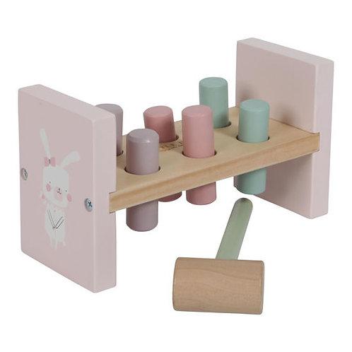 Hammerbank Little Dutch, Hammerbank personalisiert, Little Dutch personalisiert, Little Dutch kaufen, rosa, Geschenk Holz