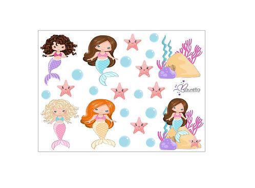 Stickerbogen Meerjungfrau 5