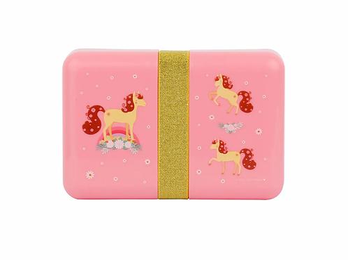 Lunchbox leicht, Znünibox leicht, Znünibox kaufen, rosa, Mädchen, Znünibox personalisiert, Lunchbox personalisiert, Pferd