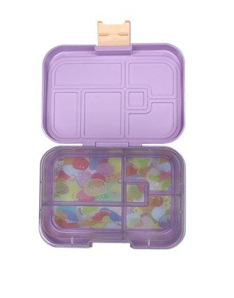 Munchbox mit 5 Unterteilungen Pastell Violett