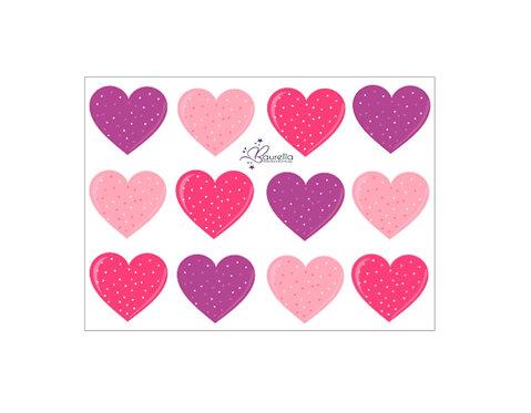 Stickerbogen Herz 4