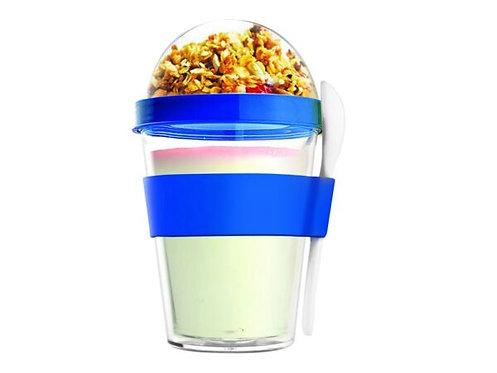 Asobu Yoghurt-/Müslibecher 360ml Blau