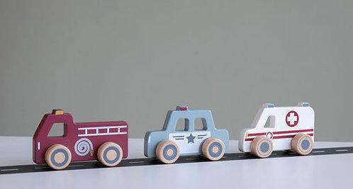 Little Dutch Einsatzfahrzeuge 3er Set
