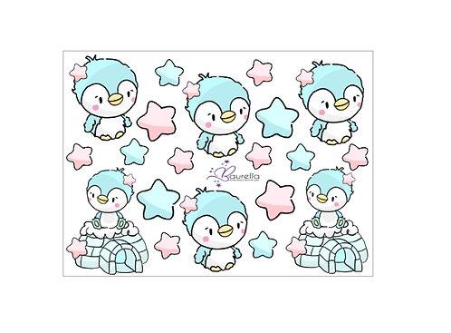 Stickerbogen Pinguin 1