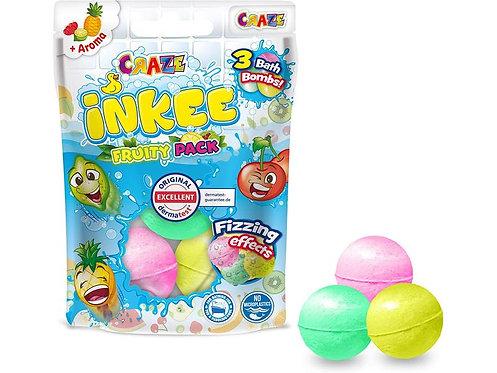 CRAZE Inkee Badebomben Fruity Pack, 3er-Pack