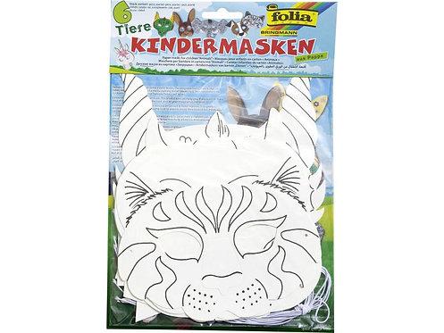 Bastelset Kindermasken 6 Stück