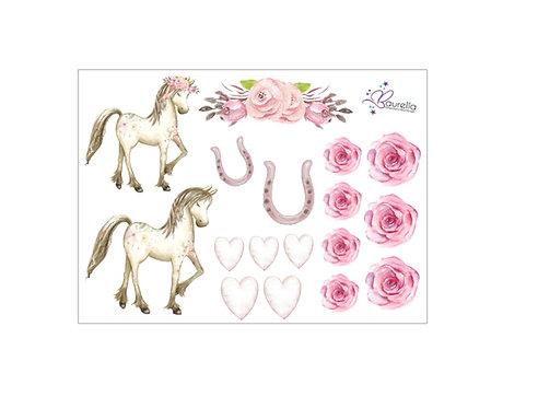 Stickerbogen Pferd 1