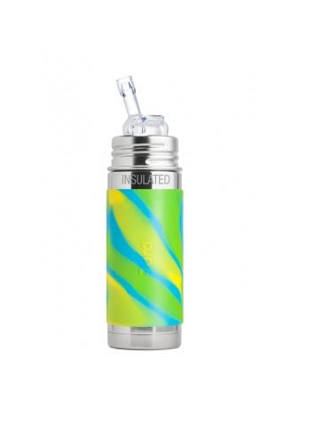 Pura Trinkhalm Isolierflasche 260ml AquaSwirl