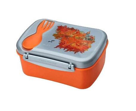 Carl Oscar Wisdom, Orange, Znünibox orange, Znünibox personalisiert, Znünibox kaufen, Lunchbox kaufen,Lunchbox personalisiert