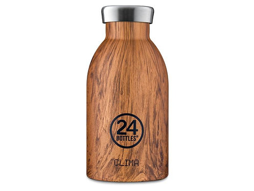 24Bottles Thermosflasche Clima 330 ml Wood