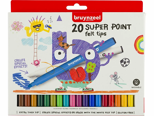 BRUYNZEEL Fasermalerset Kids Superpoint